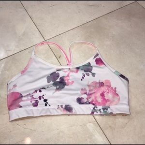 Lululemon floral flow y sports bra size 8